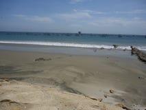 海滩在秘鲁 免版税库存照片