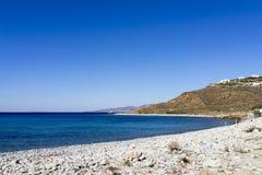海滩在米科诺斯岛 库存图片