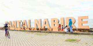 海滩在纳比雷 库存照片
