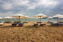 海滩在芽庄市,越南 免版税库存照片
