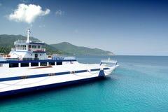 海滩在萨索斯岛海岛-希腊 免版税库存照片