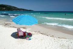 海滩在萨索斯岛海岛-希腊 免版税图库摄影