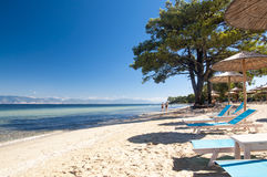 海滩在萨索斯岛 库存照片
