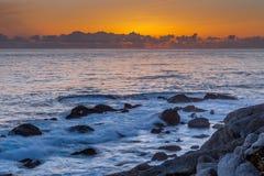 海滩在蒙特里,加利福尼亚 库存照片