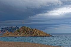 海滩在西班牙,布拉内斯 免版税图库摄影