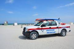 海洋在迈阿密海滩的抢救汽车 免版税库存图片