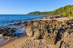 海滩在镇1770,昆士兰,澳大利亚 免版税库存照片