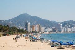 海滩在阿卡普尔科,墨西哥 库存图片