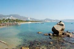 海滩在阿卡普尔科,墨西哥 免版税库存图片