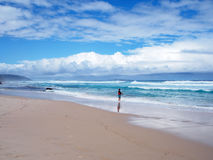海滩在阿尔巴尼 图库摄影