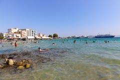 海滩在雅典,希腊 免版税库存照片