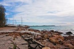 海滩在雅典 库存图片