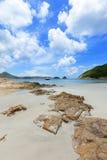 海滩在香港 免版税库存照片