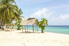 海滩在马尔代夫 库存照片