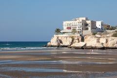 海滩在马斯喀特,阿曼 免版税库存照片