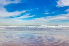海滩在巴伦西亚,西班牙 库存照片