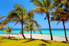 海滩在巴拉德罗角,古巴 库存照片