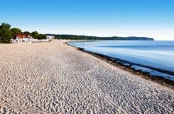 海滩在索波特,波兰 免版税库存照片