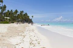 海滩在Bavaro,多米尼加共和国 库存图片