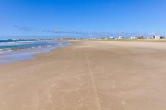 海滩在Cabo Polonio,乌拉圭 免版税库存照片