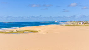 海滩在Cabo Polonio,乌拉圭 免版税图库摄影