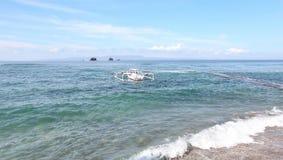 海滩在Candidasa 免版税库存图片