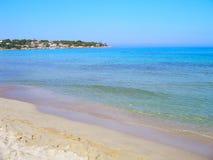 海滩在Fontane Bianche 库存照片