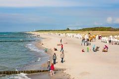 海滩在Graal-Mueritz 免版税图库摄影