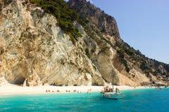 海滩在Ithaka,希腊 免版税图库摄影