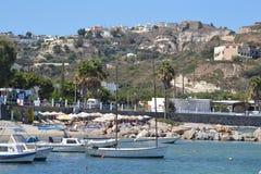 海滩在Kefalos 库存图片