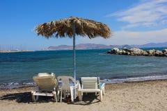 海滩在Kos海岛 免版税库存图片