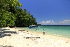 海滩在Krabi,泰国 免版税库存图片