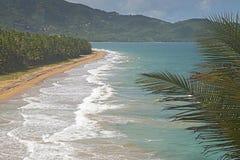 海滩在Patillas,波多黎各 免版税库存照片