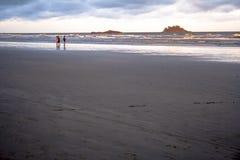 海滩在Peruibe 库存照片