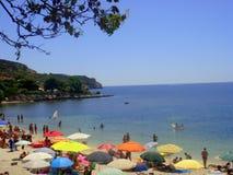 海滩在Sardegna,意大利 免版税库存照片