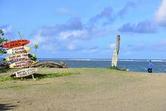 海滨在Seminyak,巴厘岛 免版税库存照片