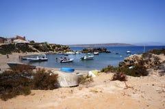 海滩在Tabarca 免版税库存图片