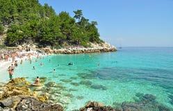 海滩在Thassos 图库摄影