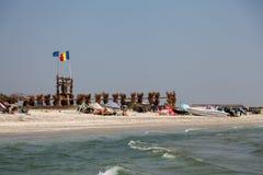 海滩在Vadu 免版税库存照片