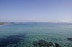 海滩在Vourvouru希腊 免版税库存图片