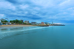 海滩地区Lido二耶索洛,意大利 库存图片
