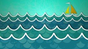 海洋场面圈 库存例证