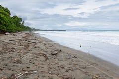 海滩场面在哥斯达黎加 库存图片