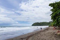 海滩场面在哥斯达黎加 免版税库存照片