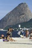 海滩场面在里约热内卢,巴西 库存照片