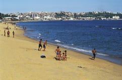 海滩场面,萨尔瓦多,巴西 图库摄影