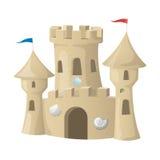 海滩城堡做沙子雕刻形状 也corel凹道例证向量 免版税库存照片
