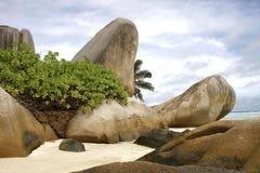 海滩塞舌尔群岛 库存图片