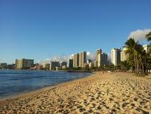 海滩夏威夷例证热带向量 免版税库存照片