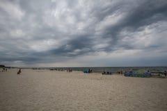 海滩多云天空 图库摄影